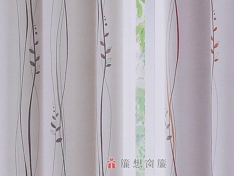 ▒簾想窗簾▒  直線條 小葉子 印花 窗簾 三明治 遮光布《每呎55元》