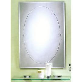 《日成》浴室化妝鏡.長方形.防蝕 (有防霧.附玻璃平台) HM-078
