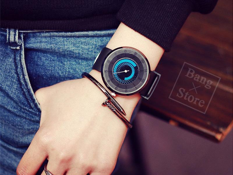 BANG◎權志龍同款 個性手錶 潮男 創意轉盤 高科技新概念 男女 學生 韓版 時尚潮流 炫酷概念 矽膠帶【MW01】