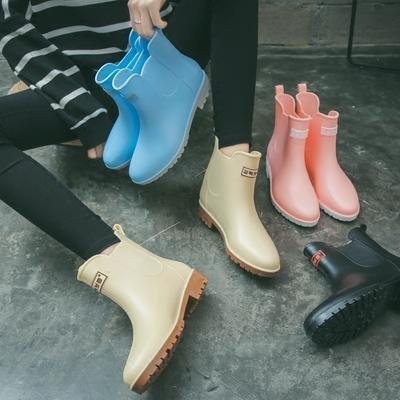 【可開發票】雨鞋女中筒雨靴成人防水套鞋韓國可愛短筒膠鞋防滑時尚水鞋冬※優品百貨※