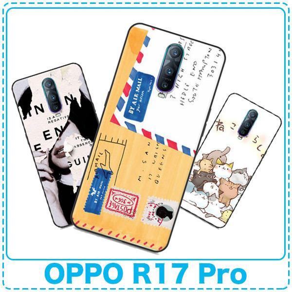 純彩卡通清新手機殼 OPPO R17 Pro 6.4吋 彩繪文藝保護殼 矽膠黑邊軟殼 防摔防震外殼「Monster3C