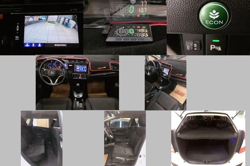 2015年 HONDA FIT 白 1.5 一手車 MP3 恆溫 ABS 4安 行車電腦 倒車雷達  方向盤快撥鍵+多功