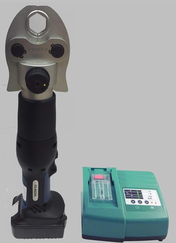 瘋狂買 台灣品牌 FUNET船井 FU-6630A 全自動回油電動不鏽鋼水管壓接鉗.壓接機.壓接工具超輕2.8KG 特價
