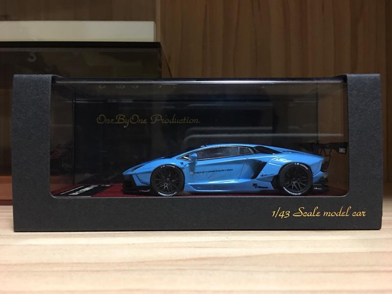 1/43 Hi-Story LB Works Lamborghini Aventador Light Blue