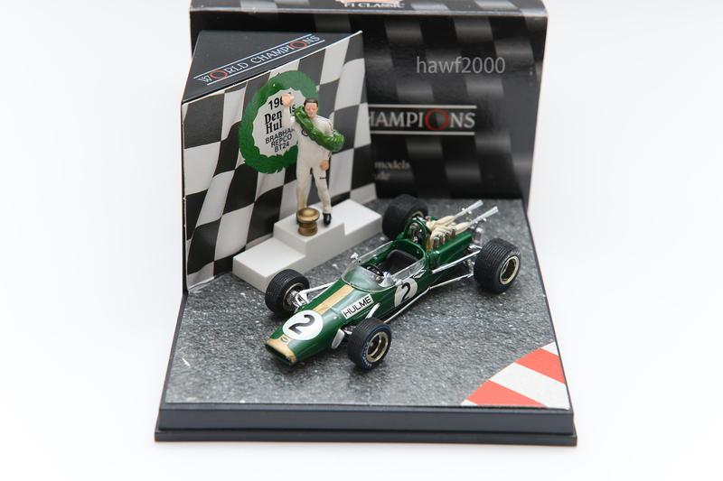 絕版F1 Quartzo 1/43 布拉罕 Brabham BT24 Denny Hulme 1967年世界冠軍