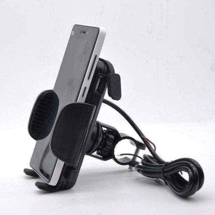 手機架-摩托車手機支架可充電帶開關USB充電器_防水防震_導航架_騎行裝備_