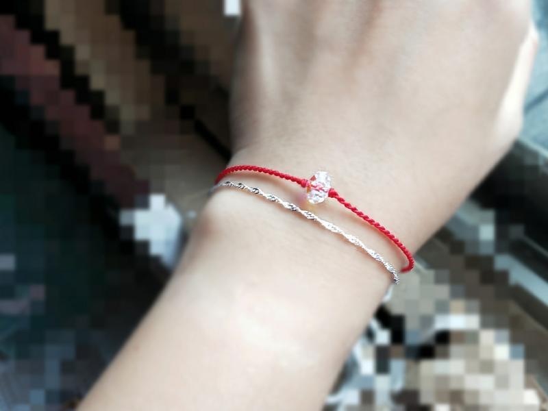 施華洛世奇水晶 鑽切面 閃亮亮 雙鍊設計 925純銀水波手鍊 15~17.5cm可戴