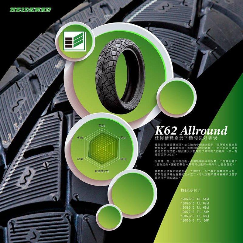 【 輪將工坊 】HEIDENAU(德國海德瑙輪胎) K62 星鑽 高性能運動胎 140/60-13 G MAX RV250 後輪