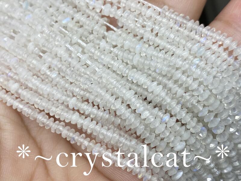 天然藍光月光石碟形切面珠造型珠手創飾品配件,3.2mm*1.5mm單顆