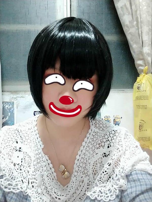 黑色 假髮 短髮