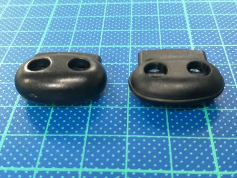 雙孔繩扣 左P064A 無邊  右P064 有邊