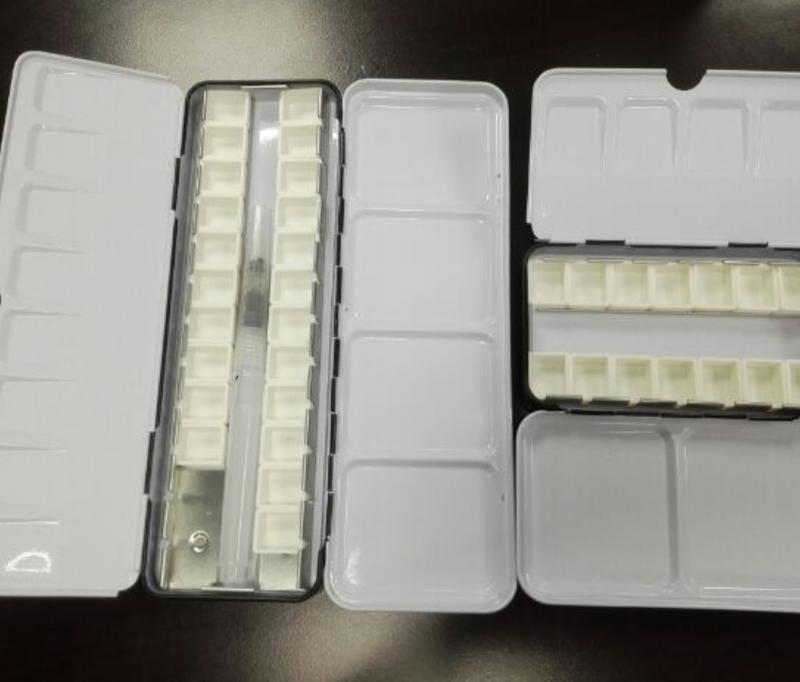 12  20 24 48 塊狀水彩 鐵盒+顏料格 分裝格 空鐵盒調色盤  櫻花 新韓 溫莎牛頓 Cotman 白夜 好賓