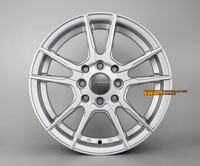 【中清路輪胎旗艦店】DTM 輕量化 五爪分岔鋁圈樣式 14吋 4X100 / 4X114.3 5.5J ET35 亮銀