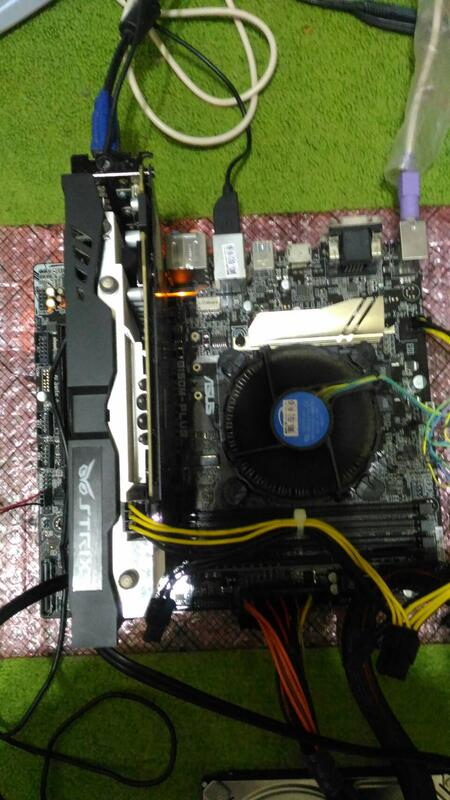 正CPU I7-6700 3.4G & DDR4 8G & Asus B150M-PLUS & GTX960-DC2OC
