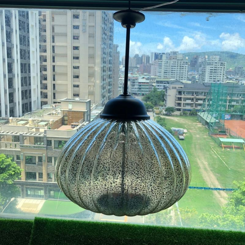 ☀️傑能科技☀️太陽能玻璃南瓜吊燈 玻璃吊燈 藝術燈 美術燈 裝飾 太陽能燈 壁燈 高質感玻璃金屬吊燈 B-27