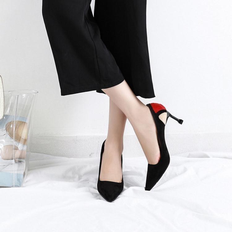 女高跟鞋 韓版女鞋子 貓跟淺口尖頭單鞋秋流行拼色細跟鞋ds4511 一級棒Al免運 可開發票