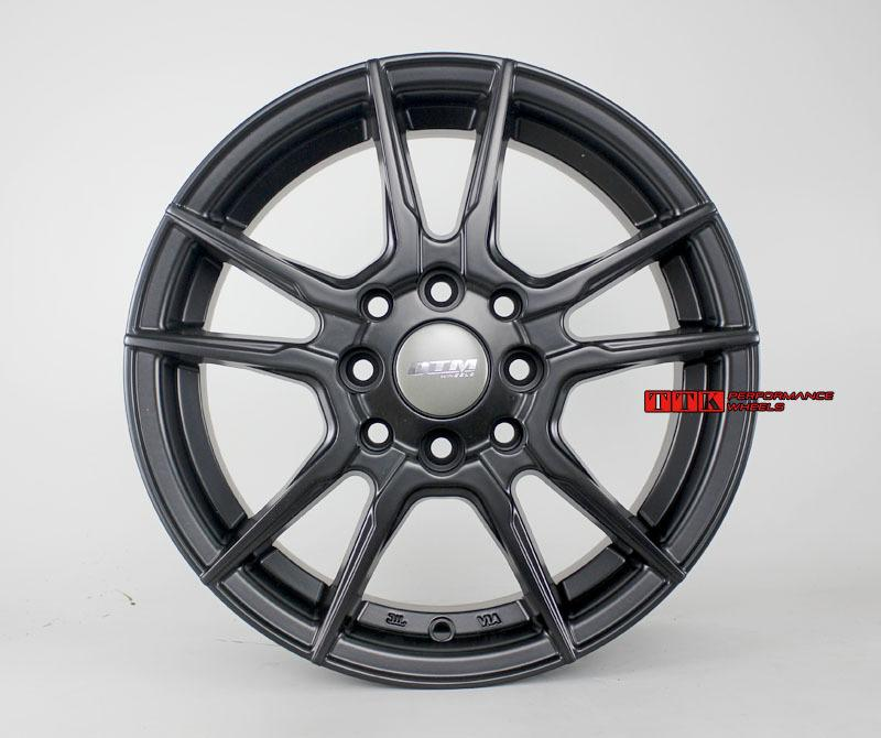 【中清路輪胎旗艦店】DTM 輕量化 五爪分岔鋁圈樣式 14吋 4X100 / 4X114.3 5.5J ET35 平光黑