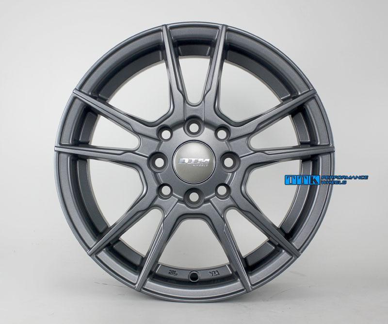 【中清路輪胎旗艦店】DTM 輕量化 五爪分岔鋁圈樣式 14吋 4X100 / 4X114.3 5.5J ET35 平光灰