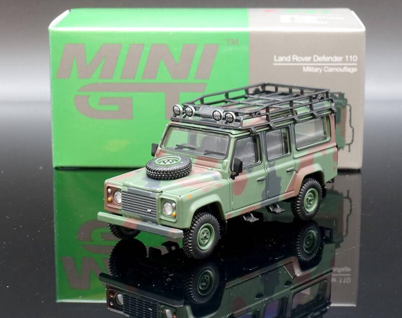 【MASH】現貨特價 Mini GT 1/64 Land Rover Defender 110 軍用迷彩 香港限定