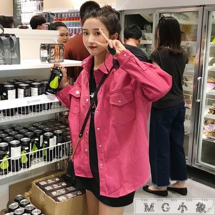 【可開發票】牛仔外套-韓版中長款BF風寬鬆百搭長袖外套—聚優購物網