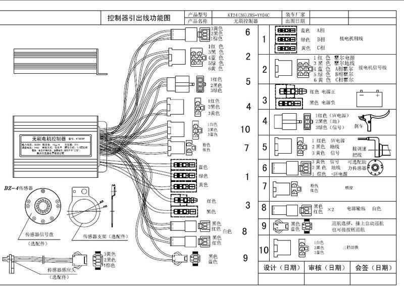 電動車控制器36V350W3速