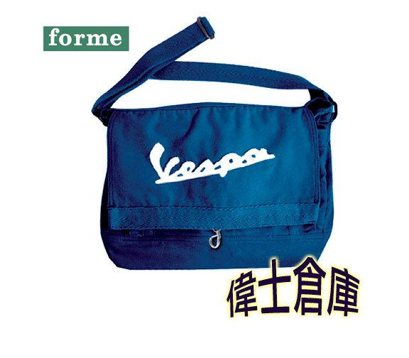 *偉士倉庫* Forme 限量 VPCV12 Vespa Messenger Bag 70年代復古帆布書包Blue