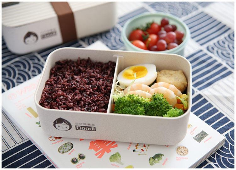 日式可微波環保材質分隔便當盒