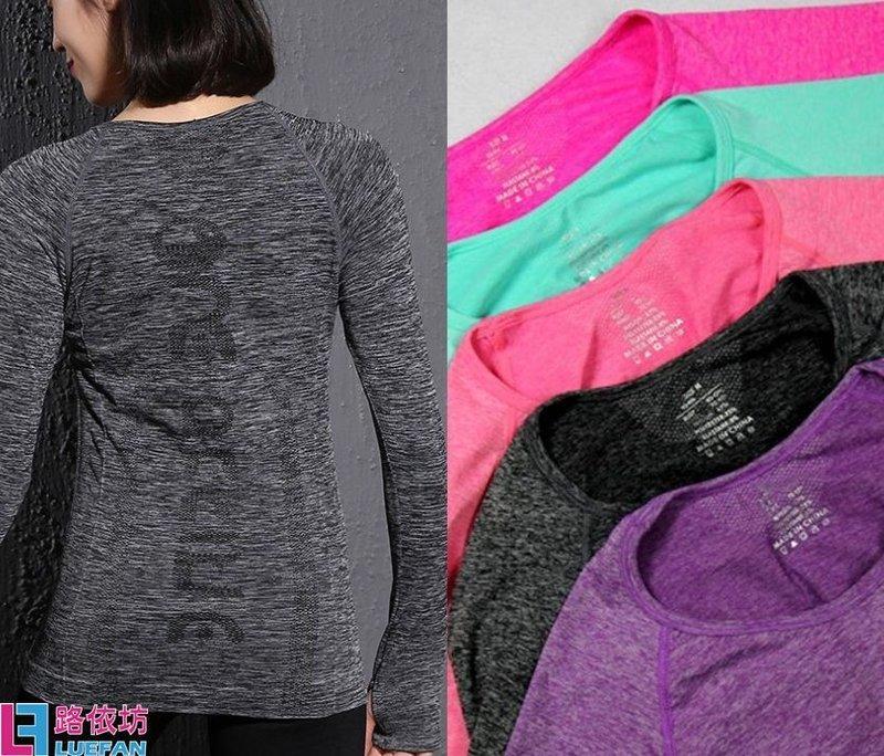 秋運動T恤 慢跑上衣 女生 速乾排汗 跑步 瑜珈長袖 夜跑 路跑 戶外 防曬 拇指扣 健身 訓練 便宜A6811