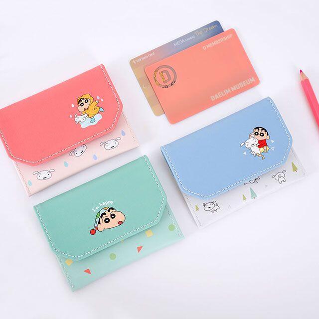 ♀高麗妹♀韓國 CRAYON SHIN-CHAN Card CASE《蠟筆小新》證件/信用卡/名片 釦式收納夾(預購)