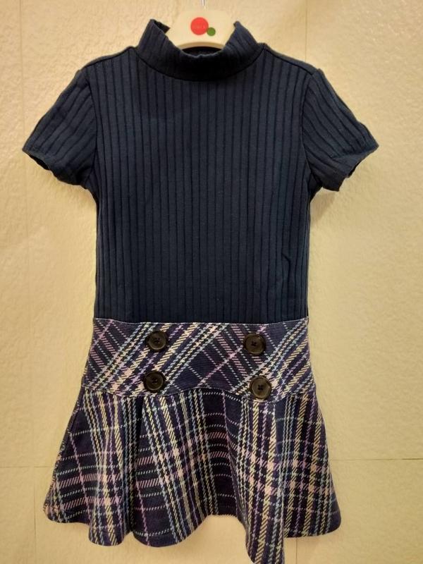深藍格款氣質洋裝(賣場還有gap.安妮公主.elle..)