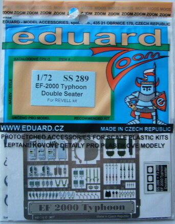 【模界】eduard 1/ 72 牛魔王 EF-2000 儀表•座艙 彩色蝕刻片 SS289