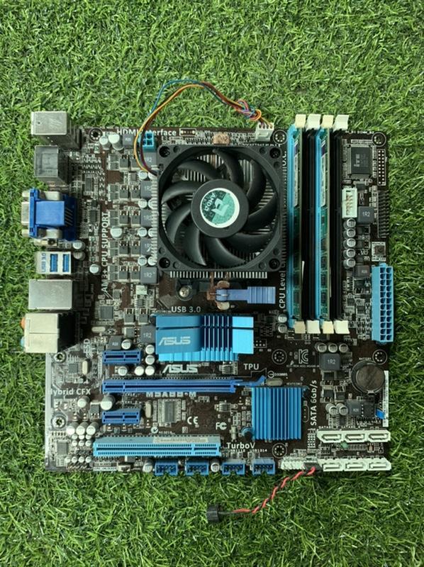 【風佬】【二手主機板】ASUS M5A88-M/AMD FX-4100/DDR3 4GX2