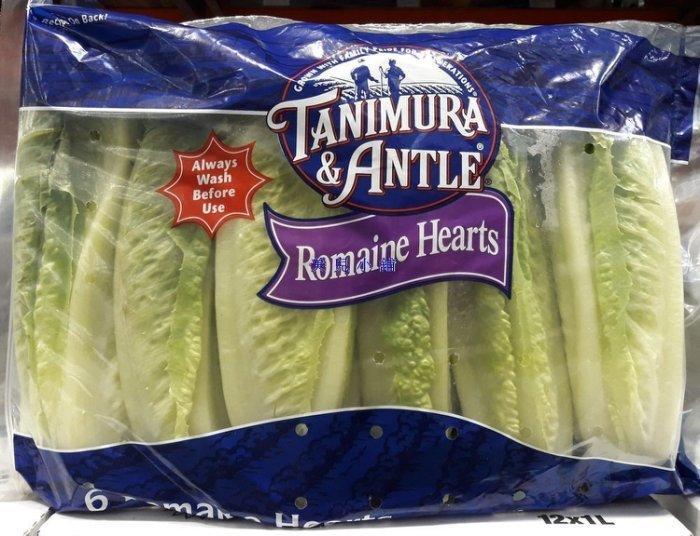 美兒小舖COSTCO好市多代購~美國 蘿蔓心/蘿蔓生菜(6顆/包,共1.2kg)淋上凱撒醬就是美味的凱撒沙拉