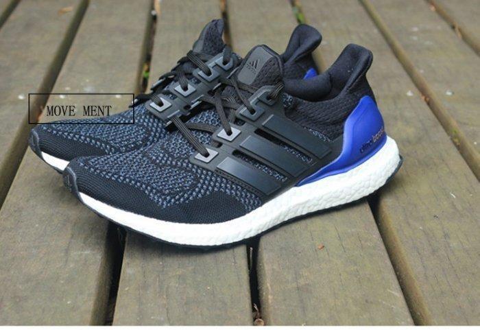Adidas Ultra Boost 黑藍  男女 休閒 運動慢跑