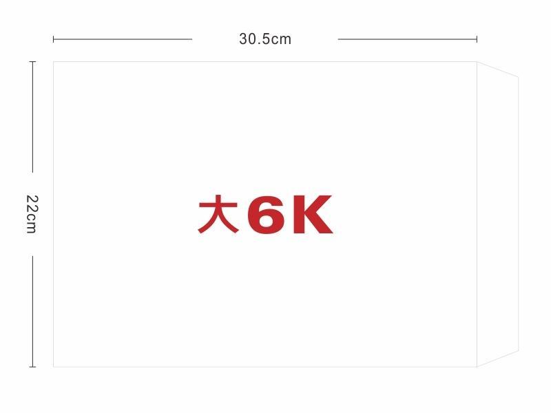 ★羅傑MORE★大6K白牛皮信封(22x30.5cm)1箱500入(可加購單色印刷)