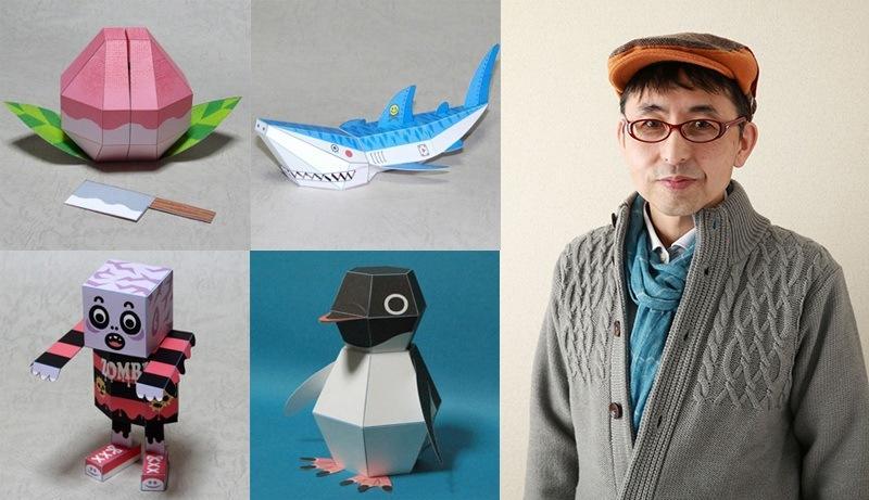 日本正版カミカラ- 企鵝爆彈 摺紙藝術家 中村開己 設計 超人氣立體紙雕 動態紙模型玩具 15款可選擇 每款270元起
