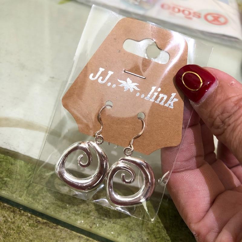 現貨* 泰國 帶回 銀製 圓形 造型 耳針 耳環