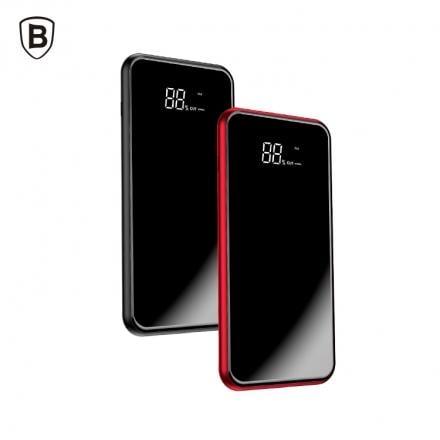 全新 Baseus 倍思 電量顯示 全面屏附支架無線充行動電源 黑/紅 8000mAh Qi無線充 移動電源 高雄可面交