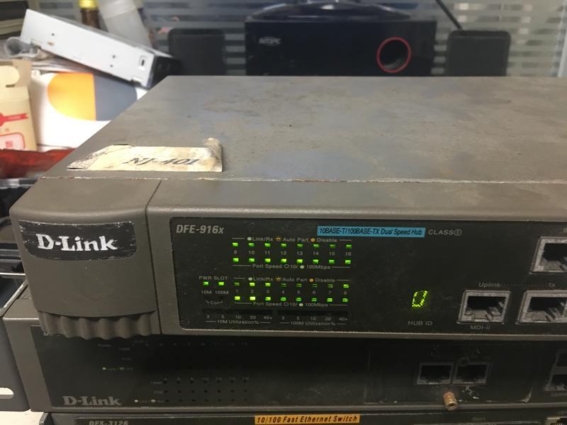 Dlink Hub 16 Port DFE-916x 堆疊式高階集線器(網管的最愛) 路由器 交換器