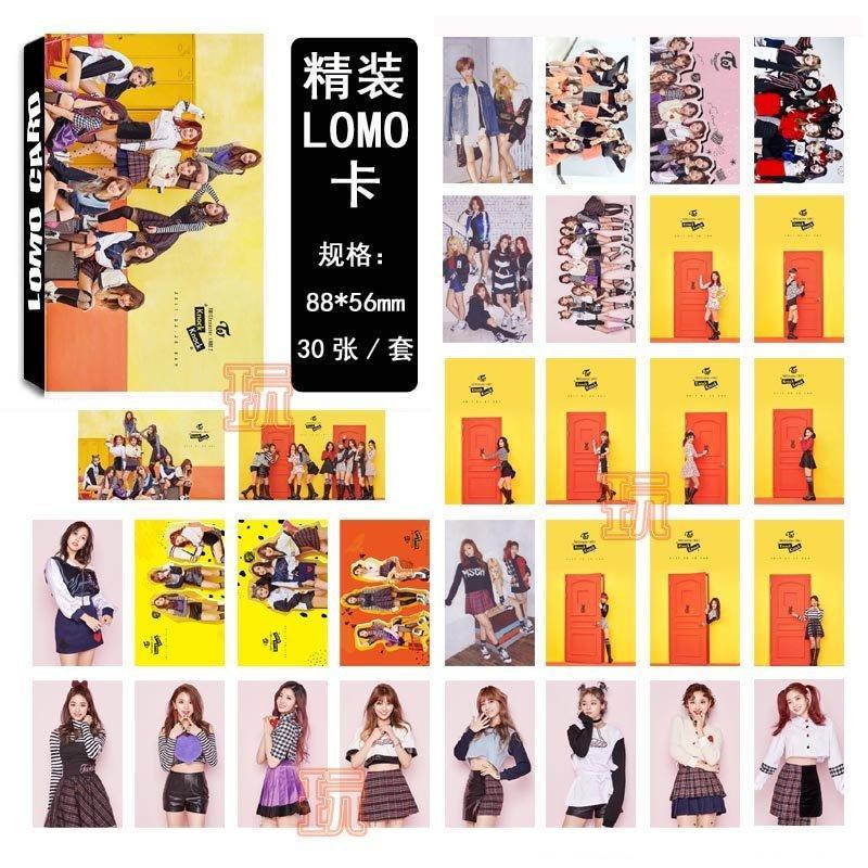 現貨盒裝 TWICE knock knock LOMO小卡 照片寫真紙卡片組(共30張)E661-E【玩之內】周子瑜