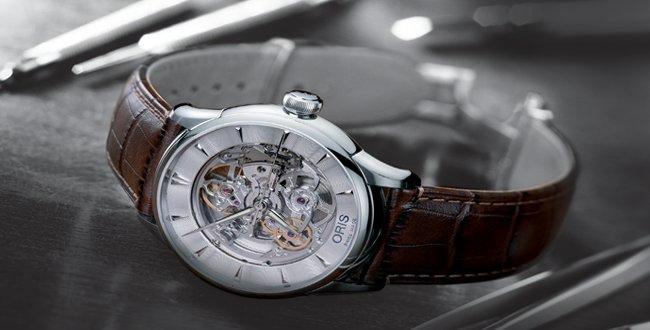 (完整無傷) Oris Artelier藝術家鏤空錶 (使用2個月) 皮錶帶+原廠金屬鏈帶