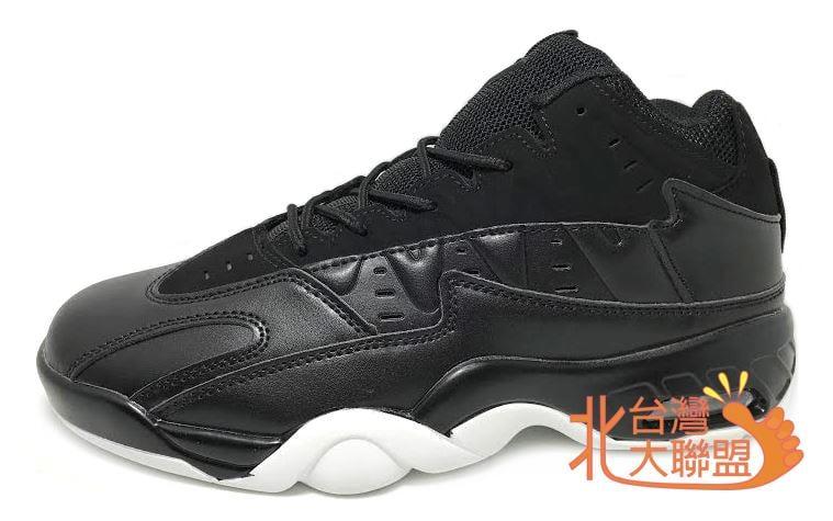 金英鞋坊 FASHION 男款黑武士高統氣墊籃球鞋 H30 黑白 超低直購價690元