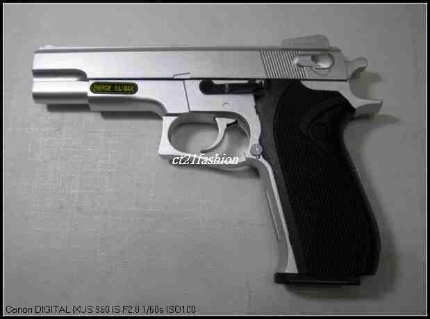 OMC生存遊戲-HFC S&WM4506 空氣槍 (BB槍BB彈玩具槍短槍模型槍道具槍競技槍)黑色B/銀色S