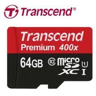 創見 64GB microSD UHS-I 400x記憶卡