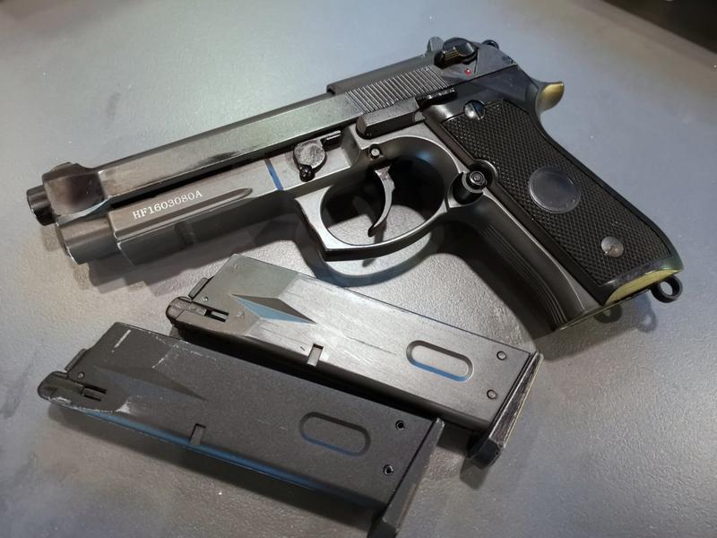 二手寄賣商品 7成新 HFC M9A1 M92 全金屬瓦斯槍 1槍2匣