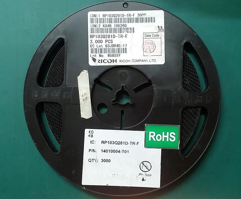 RP103Q281D-TR-F_2.8V 150mA 低噪聲LDO穩壓器_RICOH RP103Q281D 絲印 K0