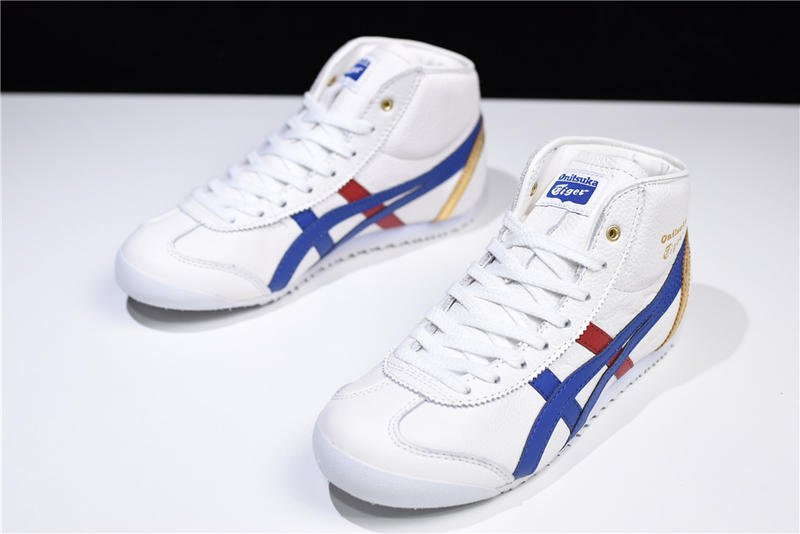 buy popular 64d34 626bd Asics Onitsuka Tiger Mexico 66 白深藍 高幫 休閒 運動 D507L-0152