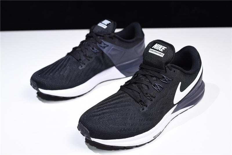 wholesale dealer 206c8 584e1 Nike Air Zoom Structure 2 黑白 針織 休閒 運動 慢跑鞋 AA1636-002
