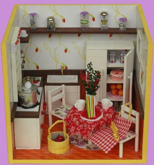 【蠟筆屋】DIY袖珍屋、迷你屋、迷你店鋪 - 111-14 厨房