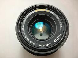 [ VINTAGE ] MINOLTA MC MACRO F3.5 100MM /微距銘鏡 / MINOLTA MD接環